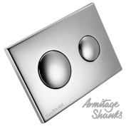 Armitage Shanks S4397AA Chrome Conceala 2 Dual Flush Push Button Plate
