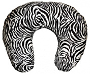 Soft Nursing Pregnancy Pillow/Cushion/Wedge - BLACK & WHITE ZEBRA PRINT - WITH QUILTED COVER & EXTRA PADDING