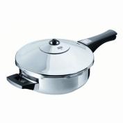 Kuhn Rikon Duromatic Inox Pressure Frying Pan, Titanium Non-stick (24cm), 2.5 Litre