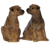 Quail Ceramics - Border Terrier Salt And Pepper Pots