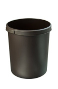 HAN 1834-08, Classic waste bin. Stylish, elegant and practical, extra stable with practical handles, 30 litres, brown