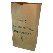 All-Green 240 Litre Paper Compostable Wheelie Bin Liners with 10 Bags, Brown