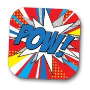 Hot Off The Press Coaster - Pop Art 'POW'