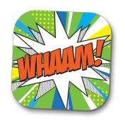 Hot Off The Press Coaster - Pop Art 'WHAAM'