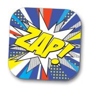 Hot Off The Press Coaster - Pop Art 'ZAP'