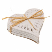 Cabana Cream Love Heart Coasters