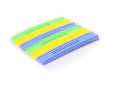 Homgaty 6Pcs Colourful Plastic Bag Food Preservation Sealing Clip