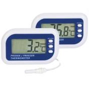 Digital Fridge or freezer alarm thermometer - Max min function & Dual sensor to display Fridge or Freezer and room temperatures