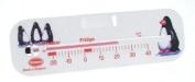 White Horizontal Fridge Freezer Thermometer 130mm - Penguin