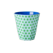 Rice Melamine Cup Two Tone Blue with stars