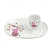 Peppa Pig Egg Cup and Soldier Set, Multi-Colour