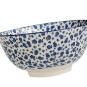 Large Japanese Bowl Blue Daisies