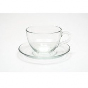 Maxwell & Williams 250 ml Glass Blend Cup and Saucer, Transparent