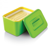 Zeal Melamine Insulated Butter Dish with Lid - Lime Green