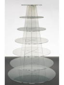 7 Tier Round Clear Acrylic Stencil Party Cupcake Stand from Wedding Acrylics