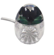Acrylic Jam Pot with Spoon - Blackberry