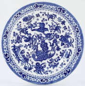 Burleigh Blue Regal Peacock Cheese or Side Plate 18 cm