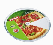 Pyrex 3059023 Pizza Plate Made from Glass 34.5 cm