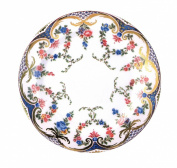 Garlands of Roses Painted Tin Enamel Plate