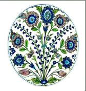 Ashmolean - Flower Sprays Plate Painted Tin Enamel Plate - Picnic or Camping