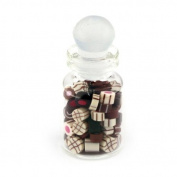 MyTinyWorld Dolls House Miniature Handmade Mixed Chocolates In A Glass Jar