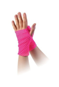 Pink Fishnet Gloves 80S Retro Disco Party Madonna Punk Gothic Fancy Dress