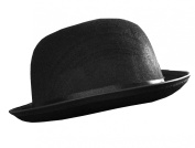 BOWLER HAT FANCY DRESS ACCESSORY MENS LADIES SIZES 55CM, 58CM, 60CM FELT VICTORIAN GENT COSTUME