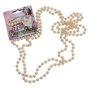 180cm Long Pearl Necklace for 1920s Flapper Fancy Dress
