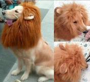 Generic Pet Dog Costume Lion Wig with Ears