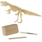 DINOSAUR EXCAVATION KIT DIG UP DIGGING FOSSIL SKELETON TOY KIDS HISTORY FUN NEW
