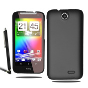 Stylish Hard Slim Case Cover For HTC Desire 310 + Screen Protector + Stylus