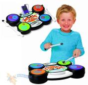 Childrens I-Drum Electronic MP3 iPod Plug & Play Drum Set Kit Music Toy