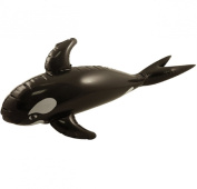 BLOW UP INFLATABLE WHALE PARTY DECORATION PROP ACCESSORY 85cm