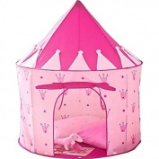 Puregadgets© 2015 Pink Crown Fairy Princess Tale Castle Pop Up Children's Tent with Windows and Roll Up Door Pink Girls Indoor or Outdoor Use Girls Pink Toy Play Tent / Playhouse / Den