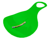 Green Plastic Snow Skimmer Bum Sledge Top Quality with Handle