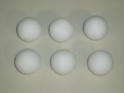 FOOTBALL TABLE BALLS 6 x 36 mm SCUFFED WHITE BALLS **