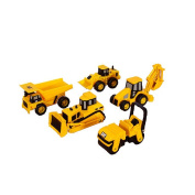 Cat Caterpillar Construction Mini Machine Dump Track Steamroller 5-Pack #34601