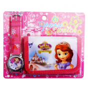 Sofia the First Children's Watch Wallet Set For Kids Children Boys Girls Great Christmas Gift Gifts Present - Sold by Happy Bargains Ltd