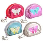 Girls Butterfly Coin Purse Assorted