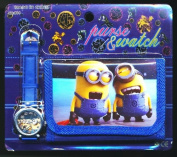 Despicable Me 2 1 Children's Watch Wallet Set For Kids Children Boys Girls Great Christmas Gift Gifts Present - Sold by Happy Bargains Ltd