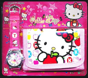 Hello Kitty Children's Watch Wallet Set For Kids Children Boys Girls cat Great Christmas Gift Gifts Present - Sold by Happy Bargains Ltd