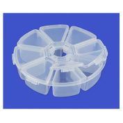 8 Compartment Round Storage Box For Beads or Other Small Items