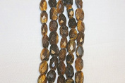 "Genuine Stone Beads - 10x16mm - Faceted Nugget - High Quality Beads - 15-16"" Long Strand - About 23-25 Beads Per Strand"