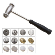 EuroTool Multi-Face Texturing Hammer With 12 Interchangeable Faces