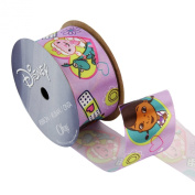 Offray Doc McStuffins Craft Ribbon, 1-/5.1cm by 2.7m, Purple Heart