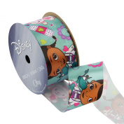 Offray Doc McStuffins Craft Ribbon, 1-/5.1cm by 2.7m, Turquoise Lambie
