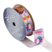 Offray Doc McStuffins Craft Ribbon, 2.2cm by 2.7m, Lavender Flower Hearts