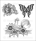 Heartfelt Creations Classic Sunflower - Summer's Day stamps