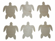 Sea Turtle Cut Outs Unfinished Wood Mini Turtles 7.6cm Inch 6 Pieces TURT-06