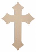 Diamond Cross 60cm X 41cm Unfinished Ready to Paint Wood Wooden Stacked Craft